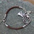 Pulsera Punky de La Vendimia Del Dragón dragón Pulseras Juego de Tronos Daenerys Targaryen madre de Cuero Pulseras Del Encanto Brazaletes