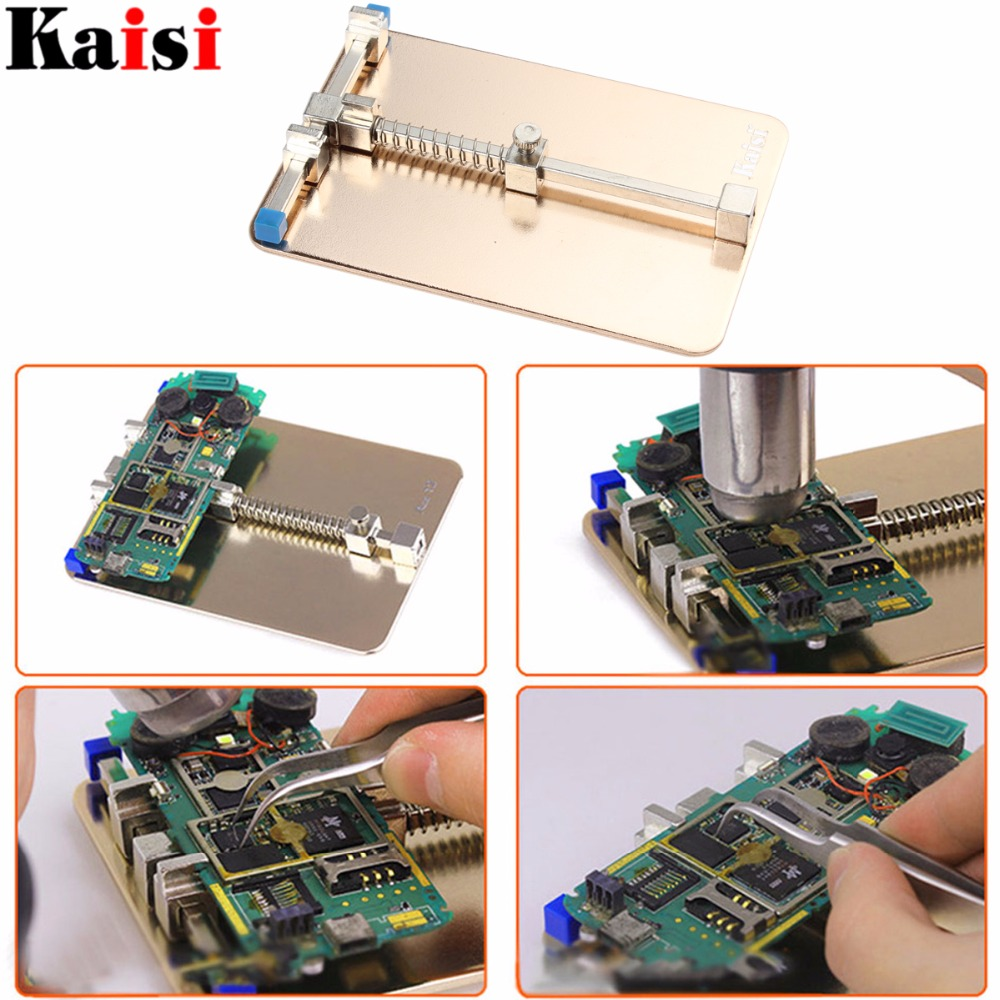 Kaisi Universal Metal PCB Board Holder Jig Fixture Work Station - Set di attrezzi - Fotografia 2