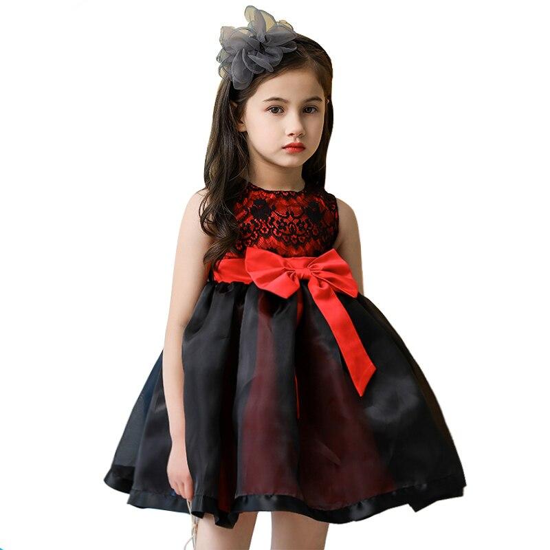 afd0dfe3c7e Купить 4 12 лет подросток Кружевные платья для девочек винтажные  благородный платье осень зима для девочек черный Хэллоуин костюм принцессы  красны... Цена ...