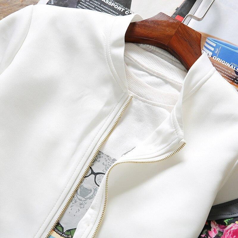 2d15a8a7aed Куртки-бомберы женские 2019 весенние повседневные Цветочные базовые ...