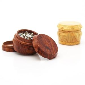 Image 2 - New Arrival Wood Grinder 63 MM 3 Layers Herb Grinder Aluminum Sharp Diamond Teeth Tobacco Grinder Herbal Weed Grinder Gifts