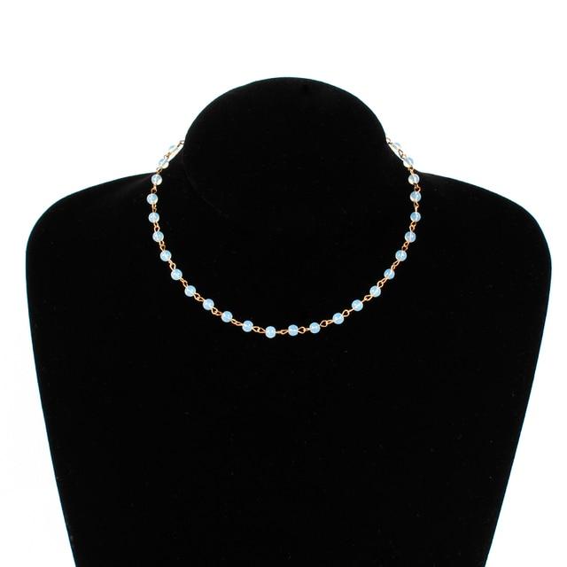 Модные ювелирные изделия для женщин простые черные и белые бусины
