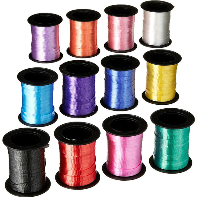 Balloons Ribbons Laser Ribbon for Party Decoration Birthday Gifts Wedding Decoration Foil Satin Ribbon Curling DIY Accessories