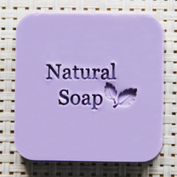 2016 Free Shipping Natural Handmade Acrylic Soap Seal Stamp Mold Chapter Mini Diy Patterns Organic Glass