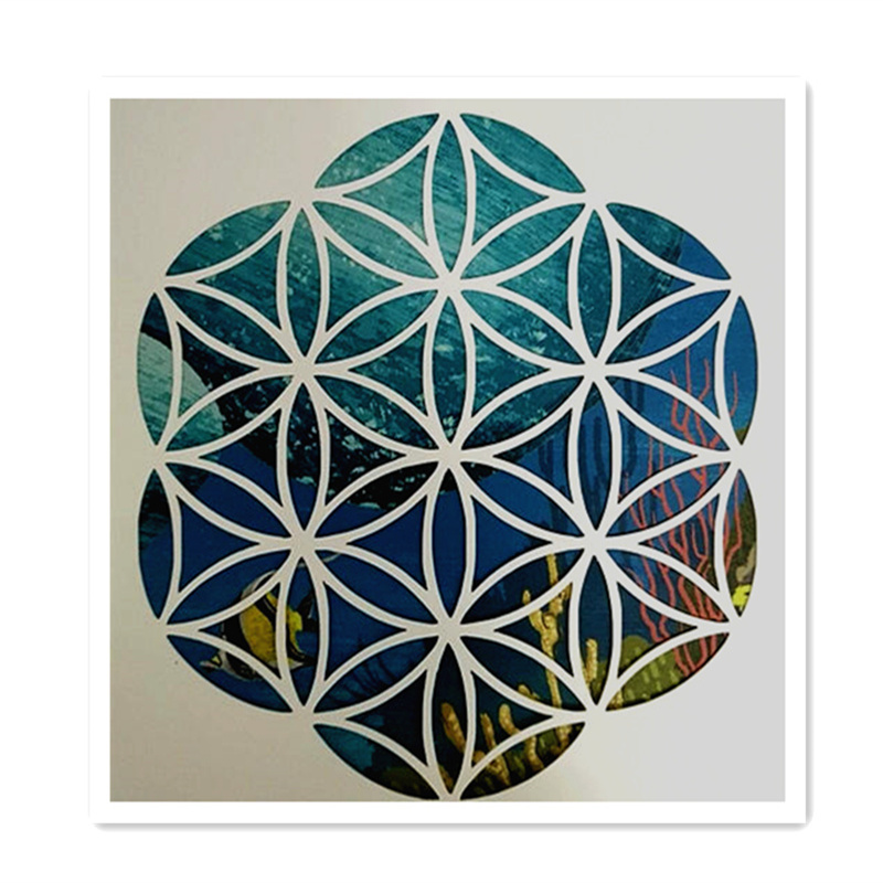 Flower Of Life Stencils Reusable For Card Making,Stamping,Projects Making,Acrylic Paints,Polymer Clay,Scrapbooking, 5.5''*5.5''