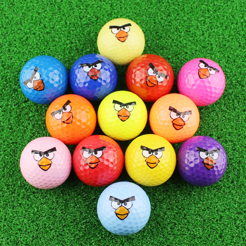 Golf ball Emoji Faces Novelty Fun Golf Balls lovely face pattern golf ball Super cute bird image color golf gift balls