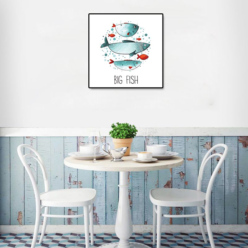 Big Fish Canvas Art Print Poster Wall Painting,Home decoration Kitchen Restaurant Decor