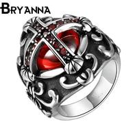Bryannaแบรนด์หรูผู้ชายข้ามแหวนสแตนเลส316Lวัยรุ่นพังก์