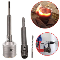 65mm Concrete Wall Drill Bit Hole Saw Cutter 200mm Connecting Rod With Wrench For Brick Cement