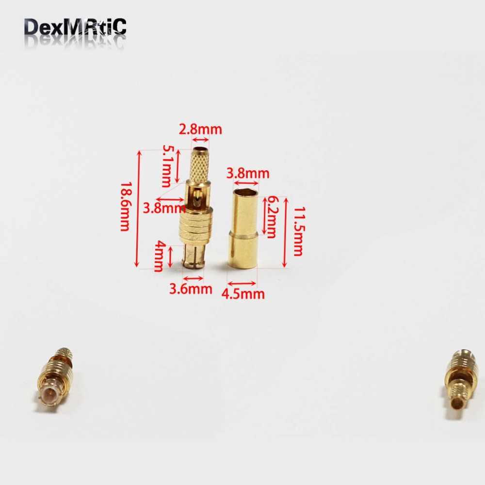 1 предмет; Новинка; RF штекер mcx Штекерный соединитель обжимные клещи для RG316, RG174, LMR100 прямой позолоченный открытые окна оптовая продажа
