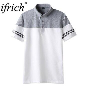 Высокое качество, с отверстиями, с коротким рукавом, с принтом, с буквенным принтом, поло, классический бренд, Мужская рубашка поло, мужская п...
