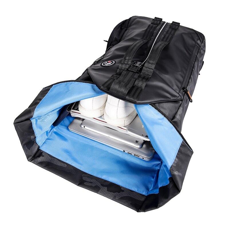 TANGCOOL hommes mode sac à dos 15.6 'sac à dos pour ordinateur portable sac à dos étanche quotidien école sac à dos pour collège étudiant - 4