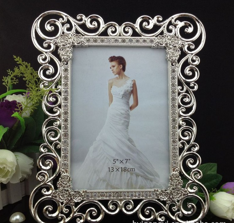 Luxury 5X7 Inch Filigree Rectangle Zinc Alloy Metal Picture Frames ...
