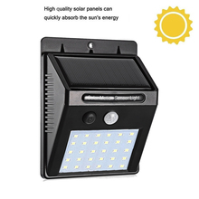 30 LEDs Solar Lights Outdoor PIR Motion Sensor Activated Light for Garden Security Waterproof Wall Lamp street yard pathway deck claite 28 leds solar motion sensor light outdoor activated separable 3 modes wall lamp waterproof garden security street light