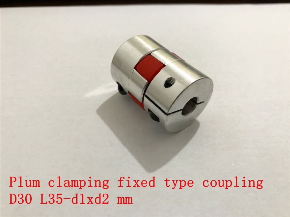 D30 L35 hole minimum 5mm maximum 15mm plum shaped clamping flexible coupling shaft coupler encoder stepper motor 1pcsD30 L35 hole minimum 5mm maximum 15mm plum shaped clamping flexible coupling shaft coupler encoder stepper motor 1pcs
