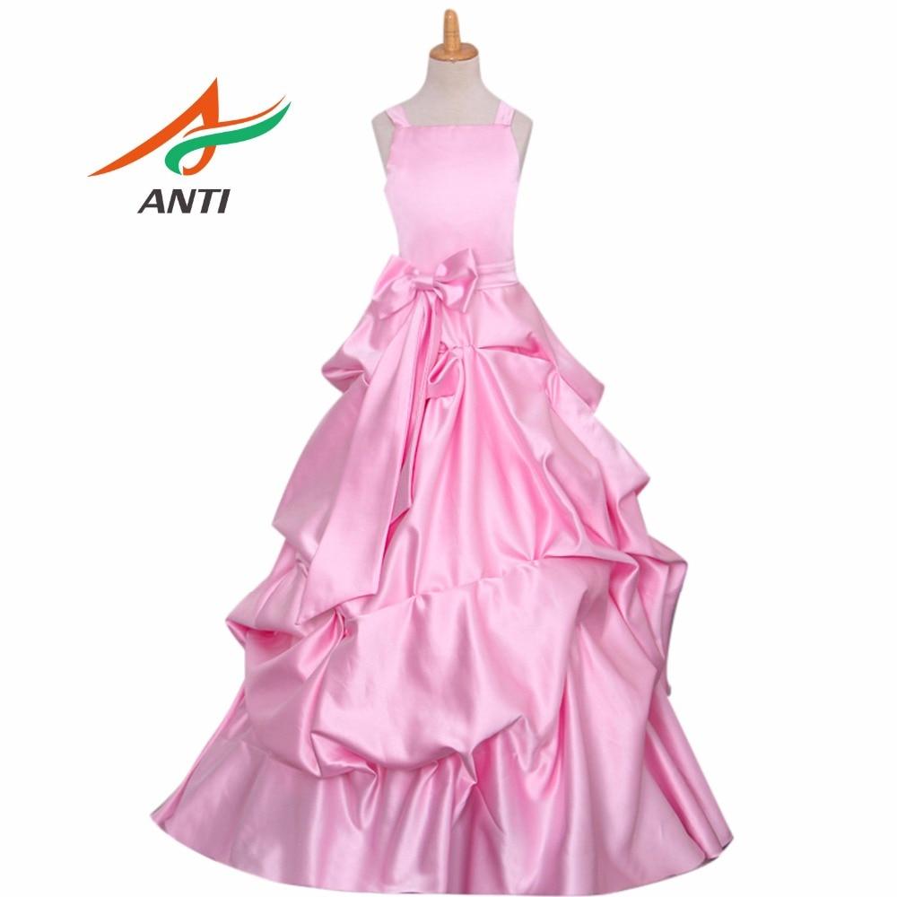 ANTI Brand New   Flower     Girl     Dresses   Pink Real Party Pageant Communion   Dress   Little   Girls   Kids Children   Dress   for Wedding