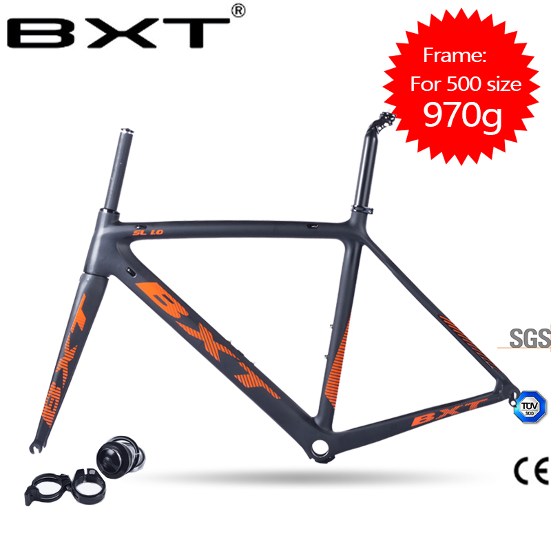 Super Light 2017 BXT Carbon Road Bike Frames Racing Bike Frame Bicycles Carbon Road Frame BSA Cycling Frameset Free Shipping