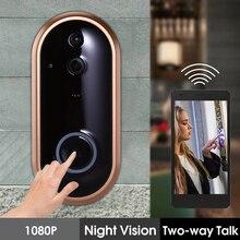 Video Eyes 1080P Wireless Doorbell Alarm Smart WIFI Door bell Intercom Ring DoorBell With Camera IR Entry Alert Deurbel