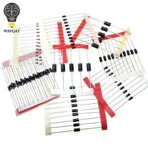 1N4148 1N4007 1N5819 1N5399 1N5408 1N5822 FR107 FR207,8values=100pcs,Electronic Components Package,Diode Assorted Kit(China)