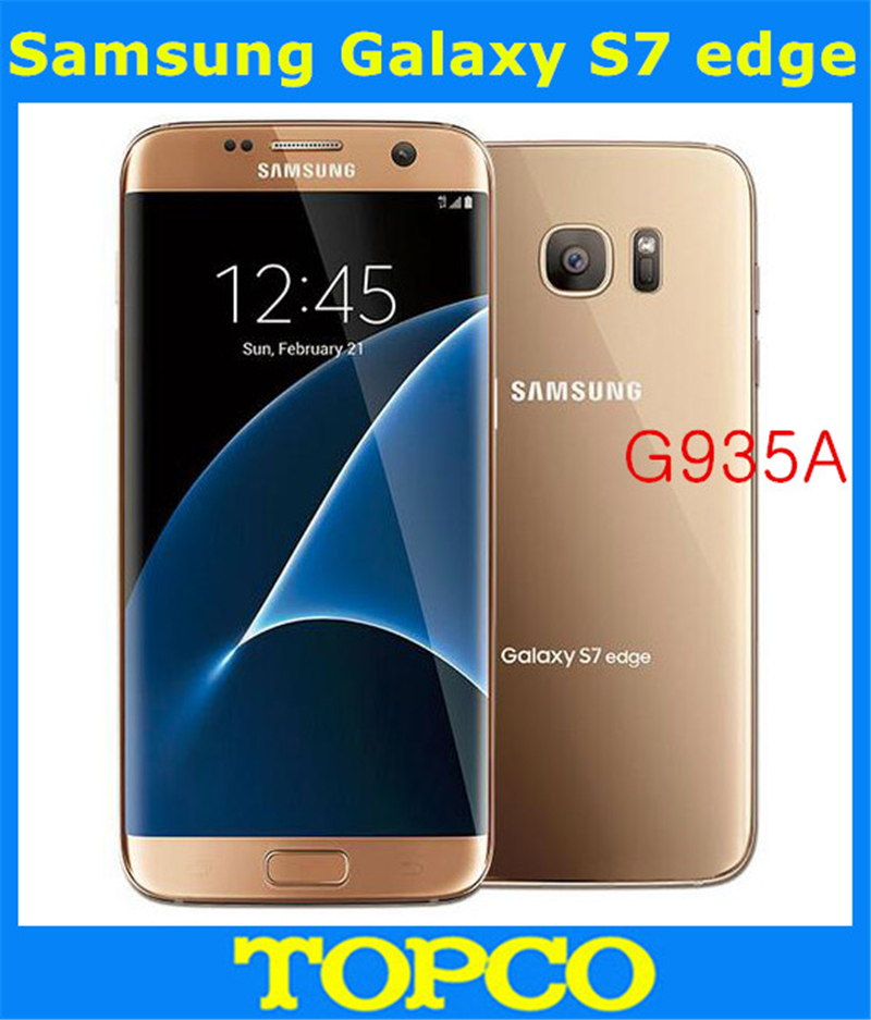 samsung galaxy s7 edge g935a at t original unlocked lte android mobile phone octa core 5 5 12mp. Black Bedroom Furniture Sets. Home Design Ideas