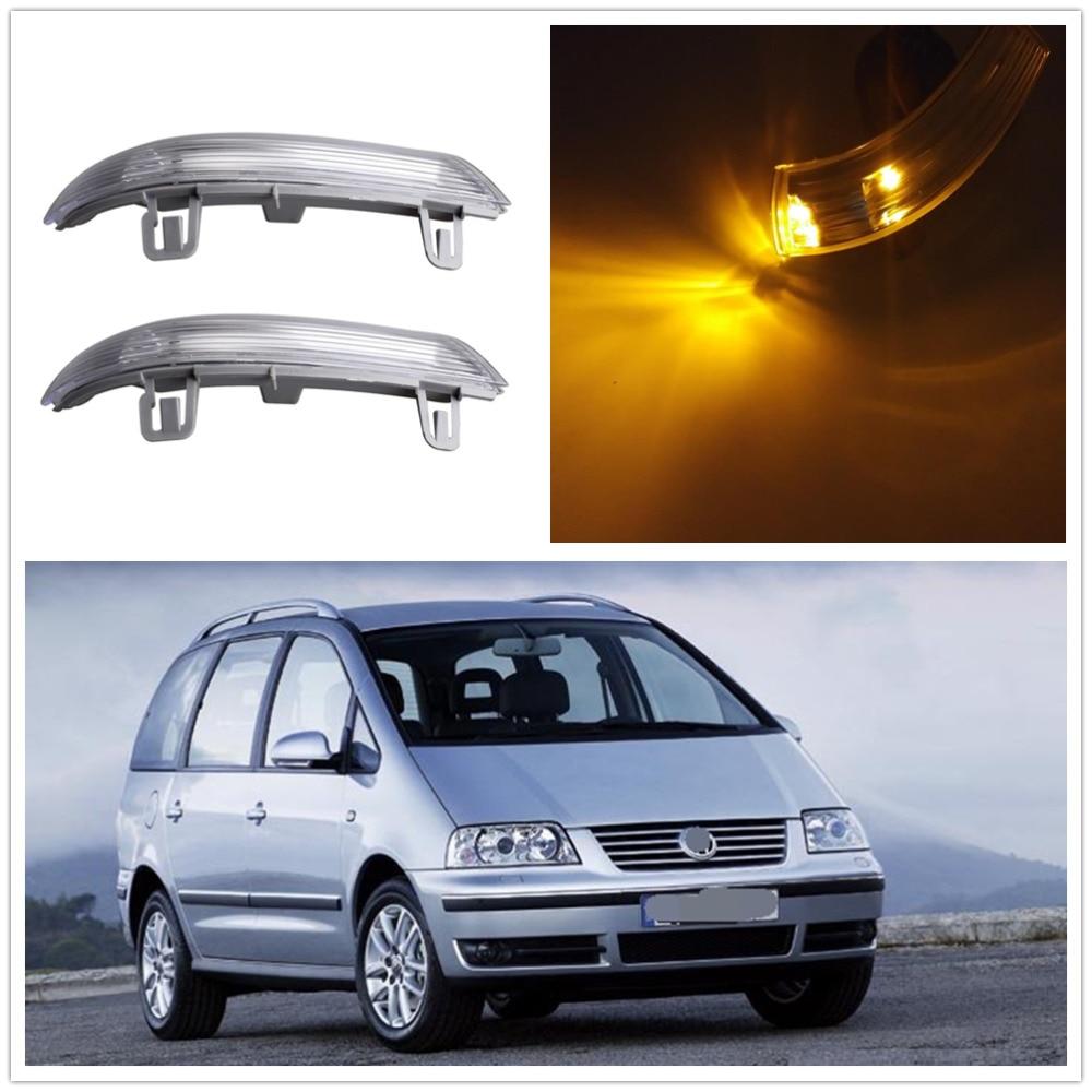 2 قطعة LED مرآة ضوء لشركة فولكس فاجن شاران 2003 2004 2005 2006 2007 2008 2009 2010 الباب الجانب LED مرآة بدوره إشارة مؤشرات ضوئية