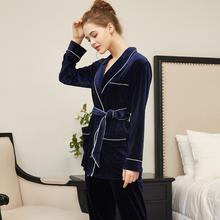 Velvet Pajamas Sets Style Women Sleepwear Suit Home  Female Sleep Lounge fashion homewear