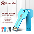 Rondaful Pendrive USB Flash Drive 64 GB Dominante Del Metal 32 GB A Prueba de agua de La Pluma Drive16GB 8 GB 4 GB USB 2.0 Memoria USB Stick de Memoria Flash USB