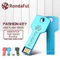 Rondaful USB Flash Drive 64GB Metal Key Pendrive 32GB Waterproof Pen Drive16GB 8GB 4GB USB 2.0 USB Stick Memory Stick USB Flash