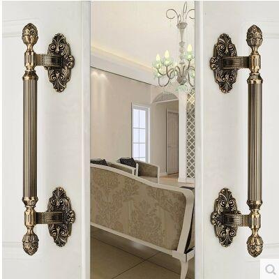 430mm de Alta Calidad manija de la puerta de latón antiguo de La Vendimia de madera vidrio gran puerta de bronce tirón Ktv Hotel de ministerio del interior de puerta hardware mango