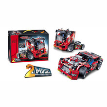 Compatibletoyscar 608pcs Racing 2 in 1 Deformable Model Building Block Set Decool 3360 DIY Toy