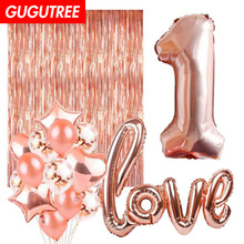 1 years old happy birthday balloons for party Decoration, LOVE foil decoration PD-144