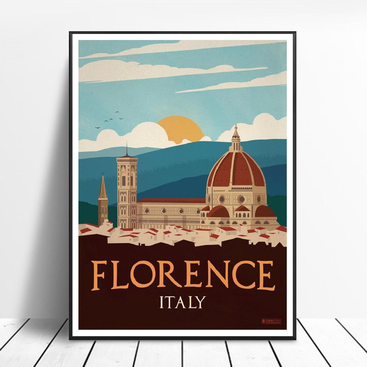 ITALY FLORENCE CANVAS PRINT PICTURE WALL ART FREE FAST POSTAGE