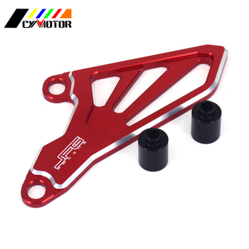 Motorcycle Billet Red Front Chain Sprocket Protector Cover For Honda CR250R CRF250R 04-07 CRF 250R 2002 2003 2008 2009 CRF250X image