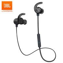 JBL T280BT אלחוטי Bluetooth אוזניות ריצה ספורט אוזניות עמוקות בס אוזניות עם מיקרופון עמיד למים אוזניות עבור טלפונים חכמים
