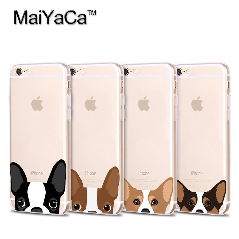 MaiYaCa sällskapsdjurhund Mjuk Transparent TPU-fodral tillbehör - Reservdelar och tillbehör för mobiltelefoner