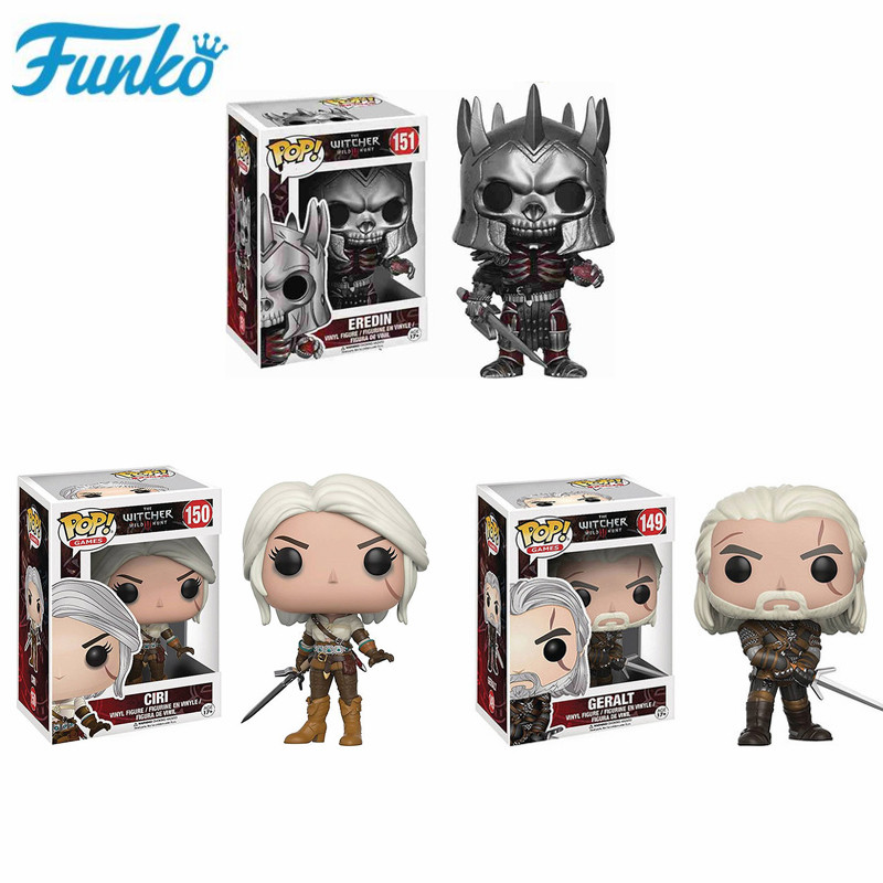 Funko Pop The Witcher 3 - Wild Hunt: #149 Geralt #151 Eredin #150 Ciri Action Figure Vinyl Toys Collectible Model Kids Present