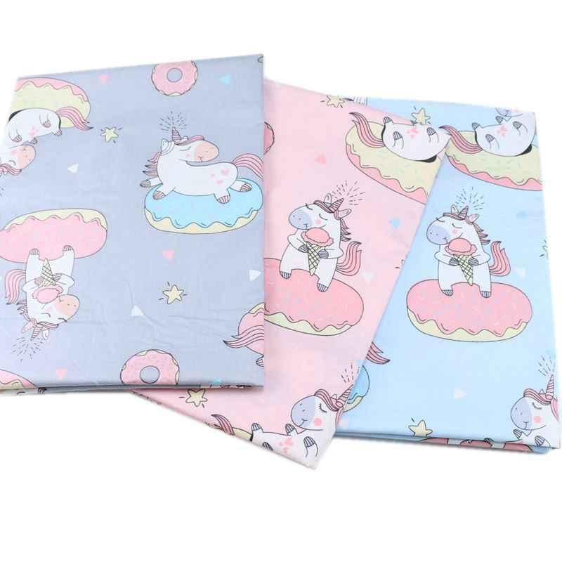 160 CM * 50 CM Katoen stof Pony eenhoorn star baby Stof voor kids crib Beddengoed Jurk Vel kussen diy doek patchwork stof