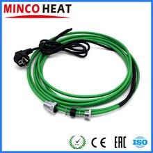 Нагревательный кабель 220 В(17 Вт/м) для установки внутри водопровода(трубопроводов) с муфтой для входа в трубу