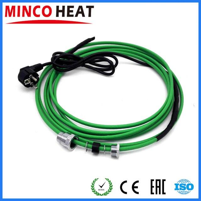220v cabo de aquecimento (17 w/m) para a instalação dentro da tubulação de água (tubulações) com acoplamento para entrar na tubulação