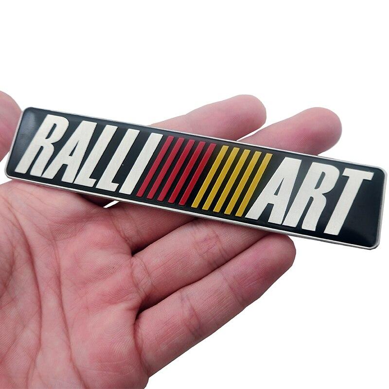 1pcs 3D Aluminum Ralli Art Logo Badge Emblem Car Sticker Car Decal Fit For Mitsubishi RalliArt Lancer Outlander Asx Car Styling