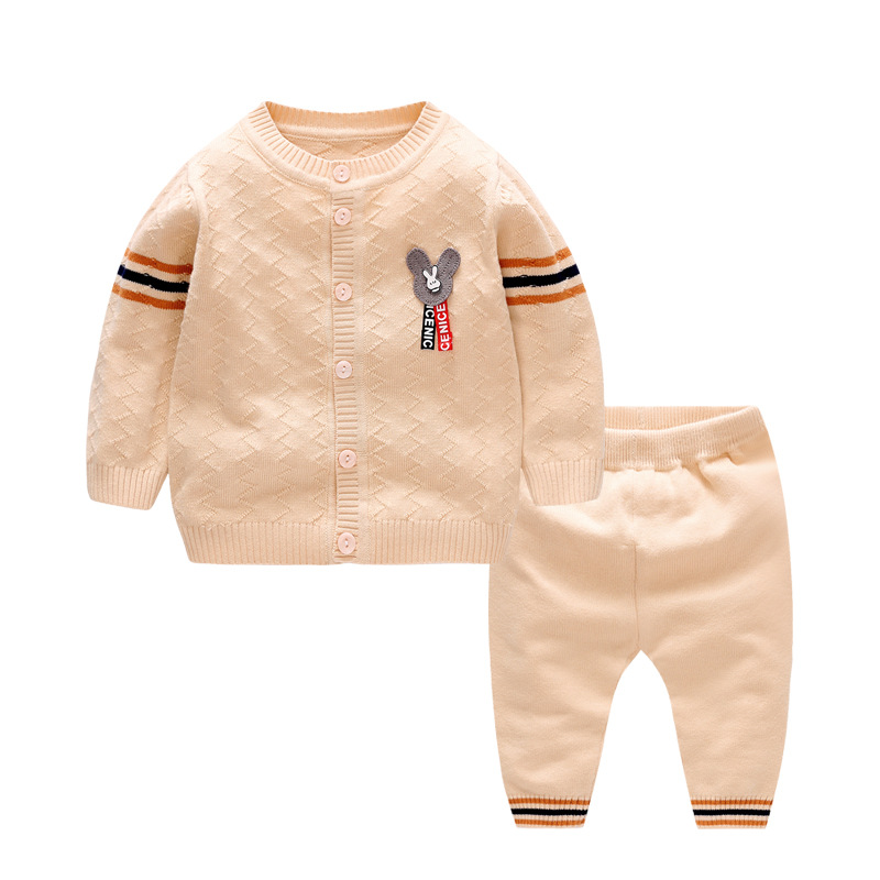 2019 New Newborn Clothes Knit Cardigan+Pants 2 Piece Baby Boy Set Brand Design Cotton Long Sleeve Baby Sets Toddler Infant Suit2019 New Newborn Clothes Knit Cardigan+Pants 2 Piece Baby Boy Set Brand Design Cotton Long Sleeve Baby Sets Toddler Infant Suit