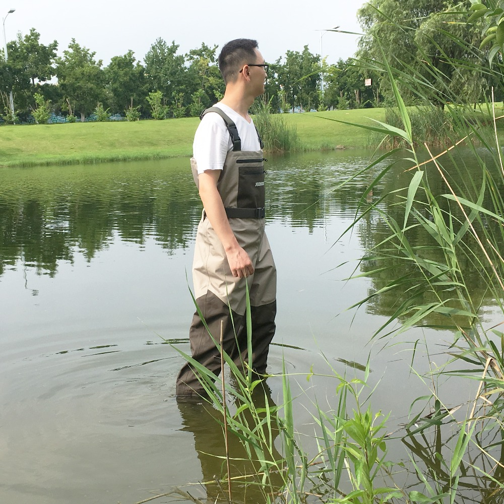 Chest-Overalls Wader Hunting-Pants Waterproof Breathable Fishing Outdoor with Soft Foot-Socks