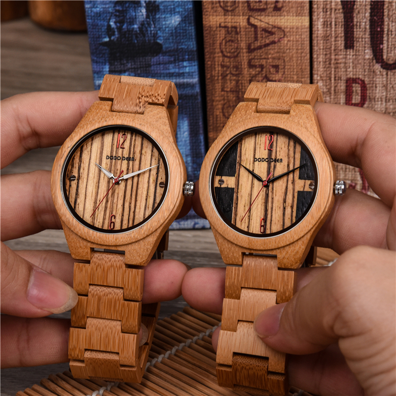 marque de luxe Wooden Men Natural Stylish Watches Luxury Quartz Personalized Wood Watch Gift for Men relojes de marca famosa C06