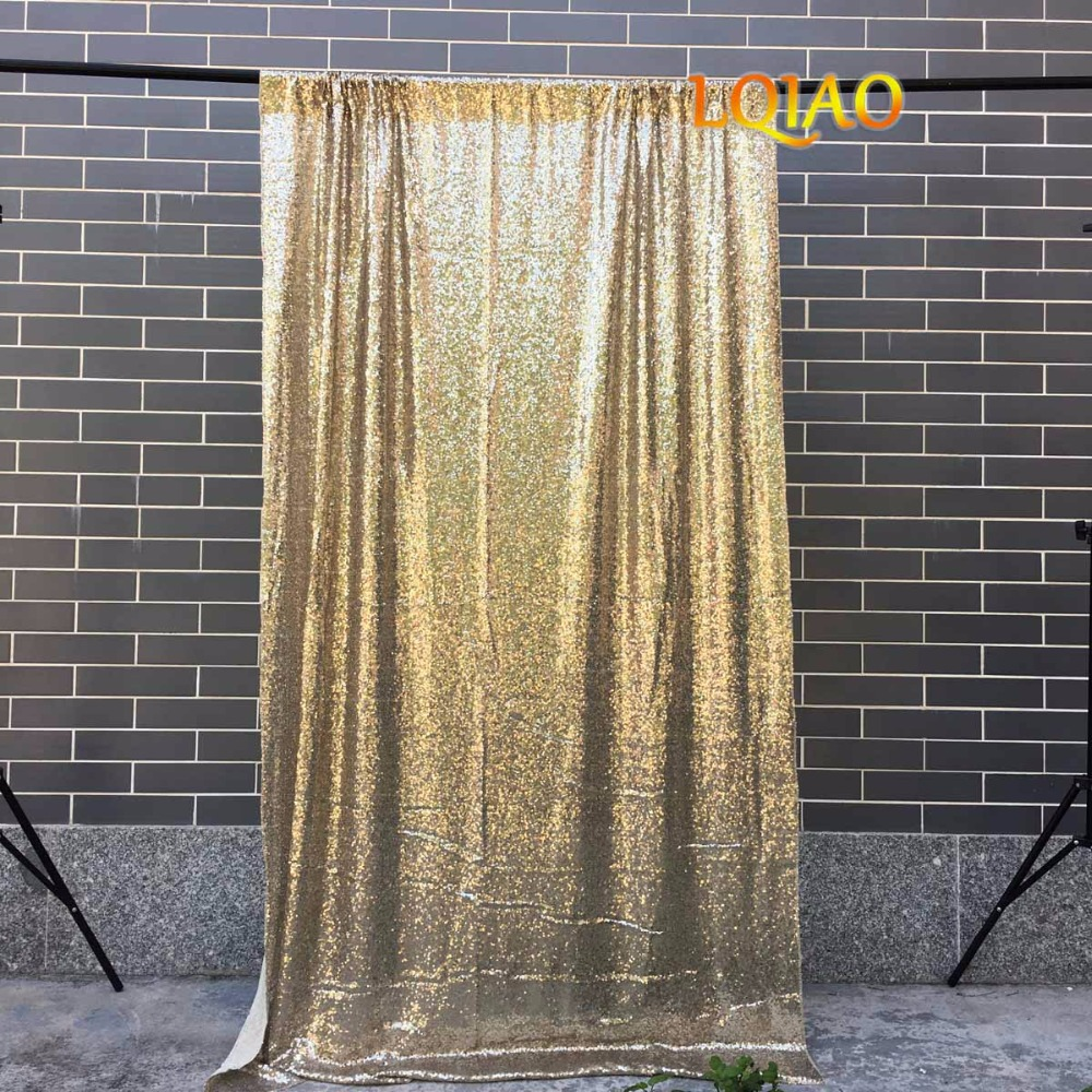 Light Gold Sequin Backdrop-003