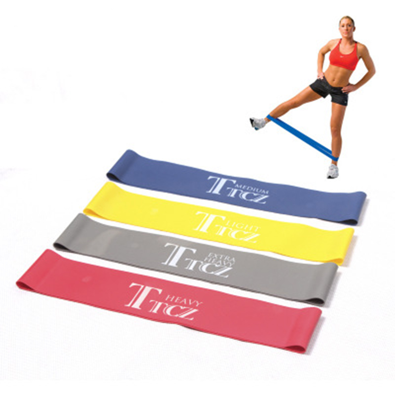 4pcs Yoga Pilates Resistance Band Exercise Loop Rubber Bands Fitness Loop rope Stretch Band Crossfit band for bodybuilding
