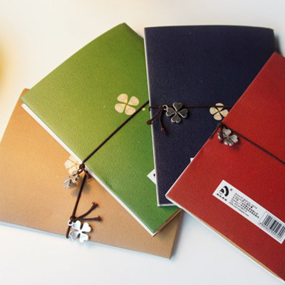 vintage clover lashing notebook diary book notepad korean statinery school supplies papelaria escolar filofax