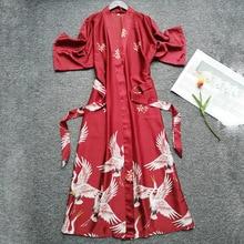 Zomer Vrouwen Zijde Korte Mouwen Bruidsmeisje Robe Sexy Lingerie Nachtkleding Nachtjapon Elegante Gewaden Satijn Print Kimono Badjas
