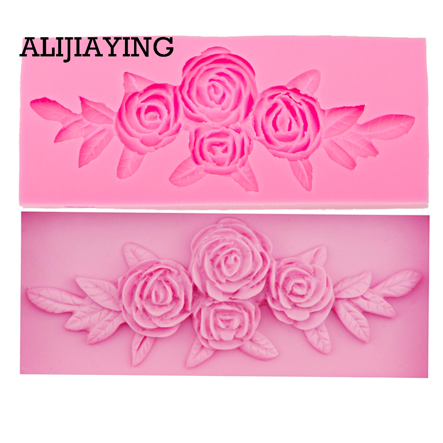 M0069 Tree Rose Flower Form Silicone Molds Cookie Cutter Cake Decorating Tools Wedding Fondant Decoration