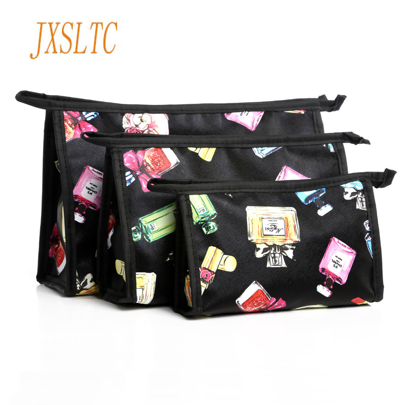 JXSLTC Travel Set Cosmetic Bag Cartoon Organizer Pouch Three-piece Bag Necessaries For Women Makeup Kit Beautician For Cosmetics