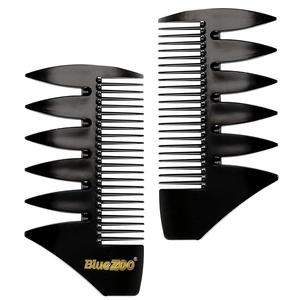 2 Color Short 2-in-1 Comb for Men's Retro Oil Haircut Mohawk Regent-style Haircut